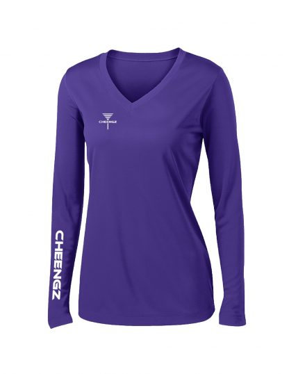 CHEENGZ Ladies Dry Fit Long Sleeve Competitor Tee Disc Golf apparel for women
