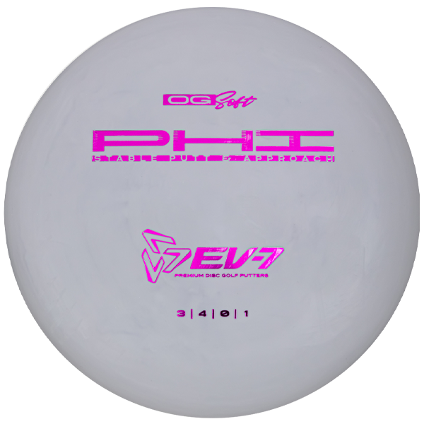 EV7 Phi Og Soft Disc Golf Putters White